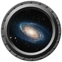 A Spiral Galaxy Seen Through A Porthole Vinyl Wall Decal