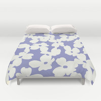 Dogwood: Lilac Tulip Duvet Cover by Eileen Paulino