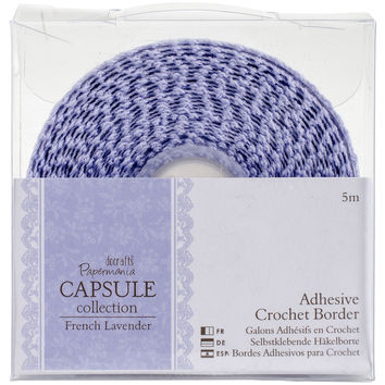 Papermania French Lavender Adhesive Crochet Border 5m-