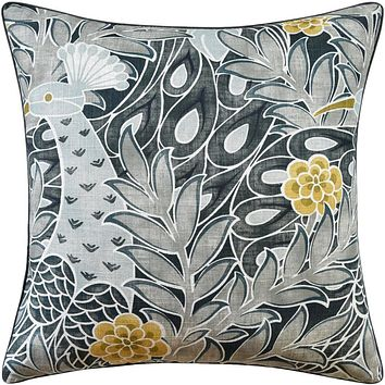 Desmond Black and Charcoal Pillow by Ryan Studio