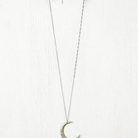 Ax + Apple Womens Moon Necklace