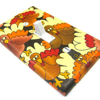 Thanksgiving Decor Turkey Light Switch Cover by ModernSwitch