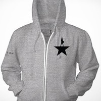 Hamilton Grey Zip-Up Hoodie - Apparel