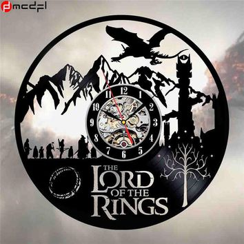 The Lord of the Rings Modern Design 12 inch Vinyl CD Record 3D Wall Clock Home Decoration