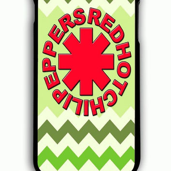 iPhone 6S Plus Case - Hard (PC) Cover with Red Hot Chili Peppers Green Chevron Plastic Case Design