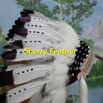 21inch Indian Feather headdress american costumes halloween costume indian chief war bonnet indian  costume supply