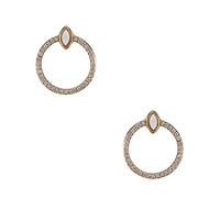 Elizabeth Stone Gemstone Eye & CZ Earrings in Gold & Opal | REVOLVE