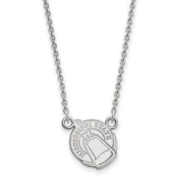 NCAA Sterling Silver Mississippi State Small Pendant Necklace