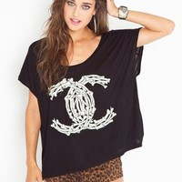 Fancy Bones Tee in Clothes Tops Tees at Nasty Gal