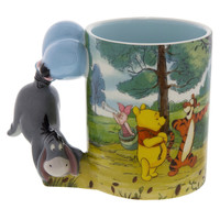 Disney Parks Winnie the Pooh Caracter Handle Eeyore 12oz Coffee Mug New