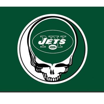 New York Jets Stealing Your Face flag 90x150cm polyester Custom banner with 2 Metal Grommets 3x5ft