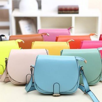 Lovely 8 Candy Color Women Leather Handbags