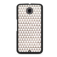 Wooden Triangle Geometric Pattern Nexus 6 case
