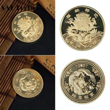 Rare Chinese Dragon Pattern Coin Gift Memorial Coin Souvenirs Coins Collectibles