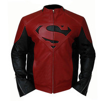 Smallville Super Boy Red and Black Superman Jacket - Faux Leather