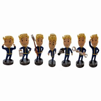 Gaming Heads Fallout 4 Vault Boy Bobbleheads Series 1 PVC Action Figure Toys