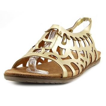 Coconuts By Matisse Women's Swan Gold Faux Leather Sandals | Overstock.com Shopping - The Best Deals on Sandals