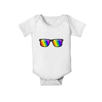 Pride Rainbow Lenses Baby Romper Bodysuit by TooLoud