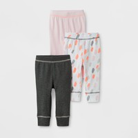 Baby Girls' 3pk Pants Cloud Island™ - Pink/Charcoal