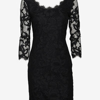 Diane von Furstenberg Zarita Lace Dress: Black-Dresses-Clothing-Categories- IntermixOnline.com