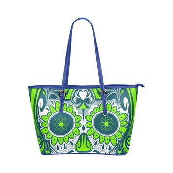 Hip Water Resistant Small Leather Tote Bags Sugar Skull #20 (5 colors)