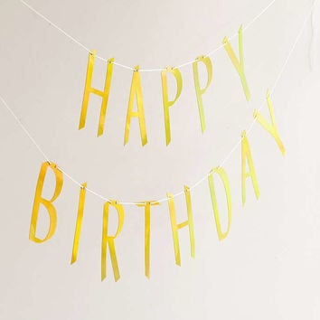 Happy Birthday Banner - Urban Outfitters