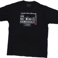 Minecraft Periodic Table T-Shirt: Clothing