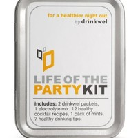 Drinkwel's Life of the Party Drinking Kit (With Drinkwel Vitamins, Healthy Cocktail Recipes, Electrolyte Tablets and More)