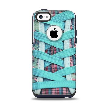The Turquoise Laced Shoe Apple iPhone 5c Otterbox Commuter Case Skin Set