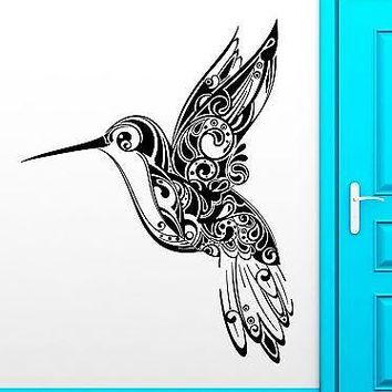 Wall Stickers Vinyl Decal Humming Bird Pattern Nature Beautiful Decor Unique Gift (ig1822)