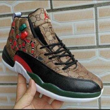 Gucci x Air Jordan 12 Retro Sneakers Shoes
