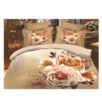 3D Queen King Size Bed Quilt/Duvet Sheet Cover Cotton reactive printing 4pcs 1.5M bed 34