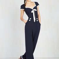 Seafare Thee Well Jumpsuit | Mod Retro Vintage Shorts | ModCloth.com