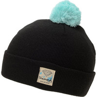 Diamond Supply Snow Shine Black & Blue Pom Beanie