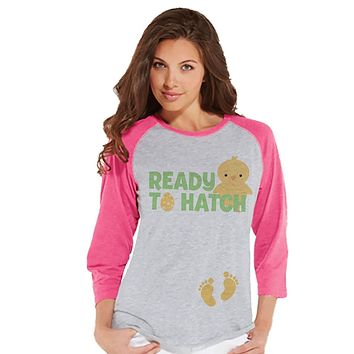 Custom Party Shop Womens Ready to Hatch Pregnancy Reveal t-shirt