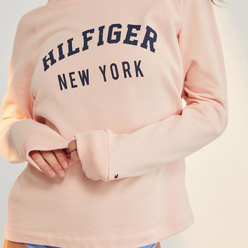 Tommy Hilfiger Pale Blush Track Sweatshirt | Urban Outfitters