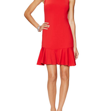 Jay Godfrey Women's San Marino Flounce Hem Dress - Red -