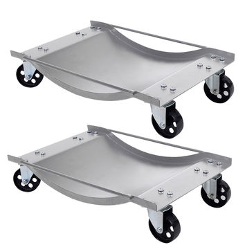 2 PCS Silver Wheel Dolly Set