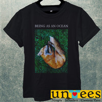 Low Price Men's Adult T-Shirt - Being as An Ocean Sleeping Fox design