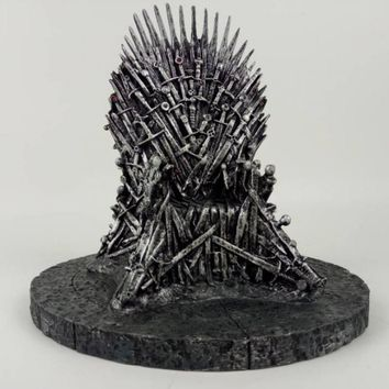 17cm The Iron Throne Game Of Thrones A Song Of Ice And Fire Action figure Toys Sword Chair Model Toys Chirstmas Gift