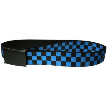 Checker - Black and Turquoise Web Belt