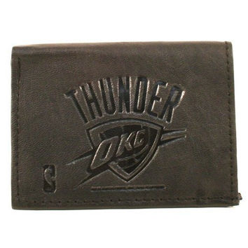 NBA Officially Licensed Genuine Leather Wallet -Black (Oklahoma City Thunder (OKC))