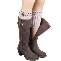 Winter Knitted Boot Socks Warm Leg Women Outwear Socks Kawaii Socks Solid Japanese Wonter Socks Calze Donna#A127