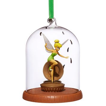 Disney 2018 Tinker Bell Glass Dome Sketchbook Christmas Ornament New with Tag