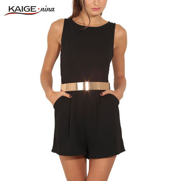 Women Jumpsuits 2016 Fashion Women Rompers Plus Size Casual Women Clothing Chic Fitness Sexy Back Rompers 8138