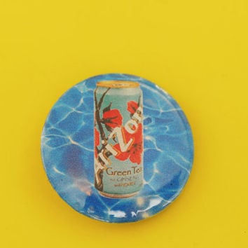 "ARIZONA Green Tea Yung Lean Sad Boys Water Vaporwave 1"" Pinback Button"