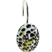 Cheetah Resin Shower Curtain Hooks