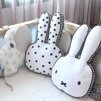 Baby Rabbit Pillow Kids Sleep Cushion Pillows Baby Room Decoration Infant Bunny Pillow Boys Girls Photoprops Christmas Gift