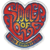 Summer Of Love Iron-On Patch 50th Anniversary Heart Logo