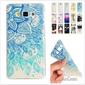 Cartoon Lemon Bike Tree painted Rubber Back Cover Silicon Gel Soft TPU mobile phone case For Samsung Galaxy A5 A500 A500F A5000